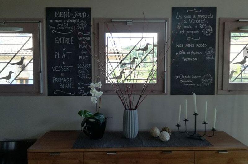 La Pangée - bistrot Drome - intérieur de la salle