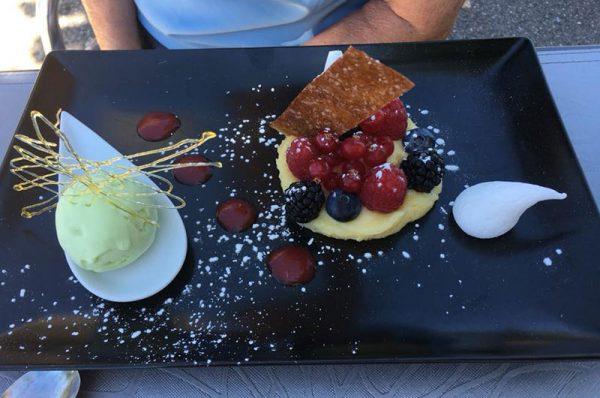 Dessert savoureux-Restaurant La Pangée