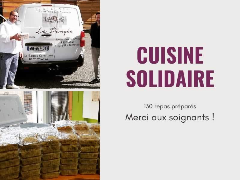 Actu-Une cuisine solidaire- soutien aux soignants-Restaurant La Pangée
