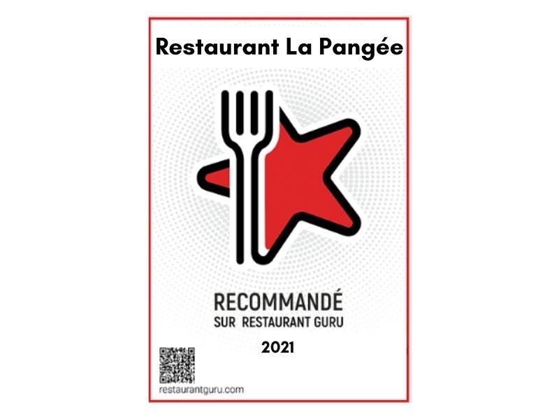 Actu - Recommandé par RESTAURANT GURU - La Pangée